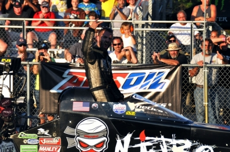Dom Lagana makes fastest pass in IHRA history in front of packed house at U.S. 131 Motorsports Park